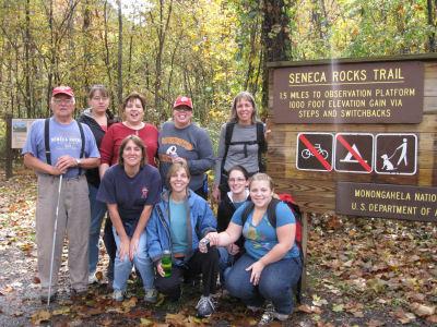 Seneca Rocks trail