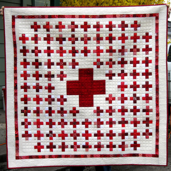 Red Cross Quilt | RunandsewQuilts's Weblog : red quilts - Adamdwight.com