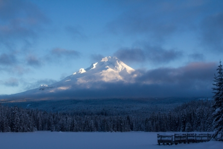 Mt Hood in the morning light