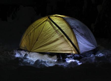 Tent w lights