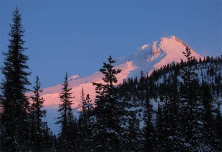 Morning light on Mt Hood
