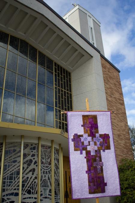 Lenten Banner outside 01