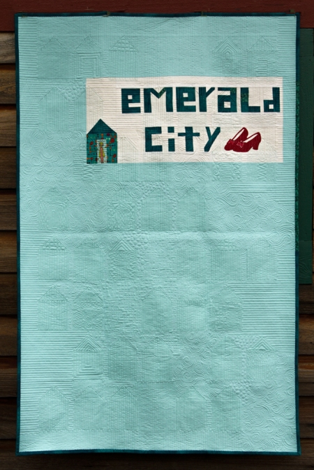 emerald quilt back