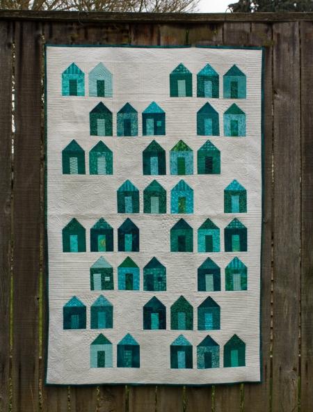 emerald quilt top