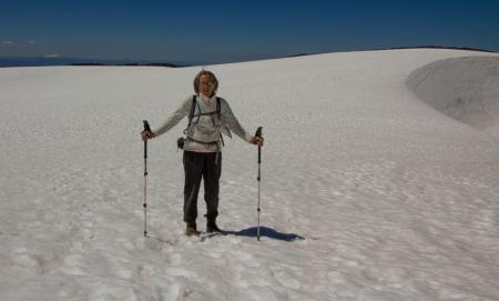 Ann snowy crater