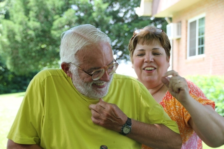 Pop Pop giggles