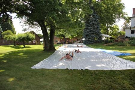 Slip n Slide w Barn Quilts
