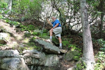 White Rocks hike Dad