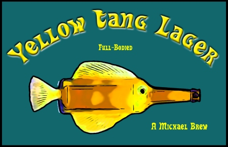 Yellow Tang Lager label