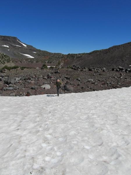 Kevin crossing snow field