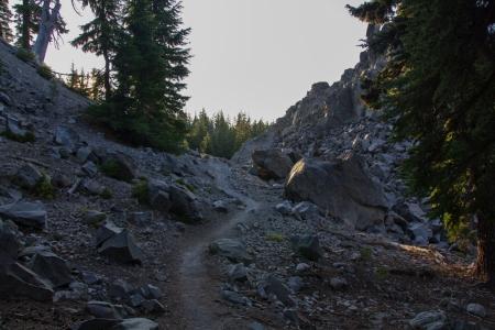 path through lava flow