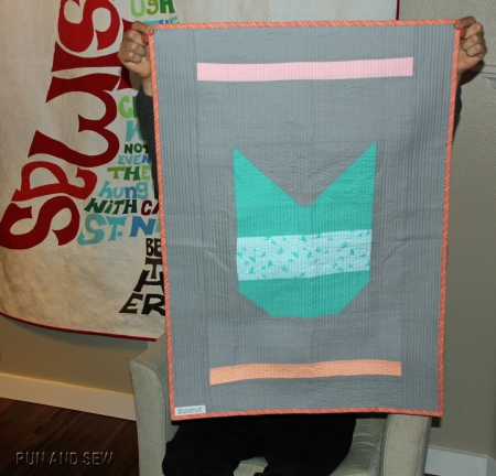 Oh Fransson Cat Quilt Back Two