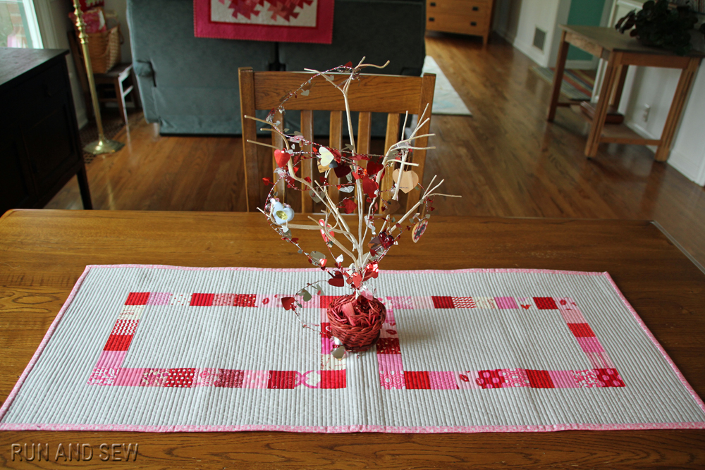 Two Valentine Table Runners are in California | RunandsewQuilts's ...