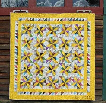 Mom Last Yellow Pinwheel
