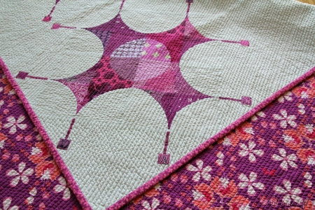 Pantone 2014 Challenge close up corner of quilting