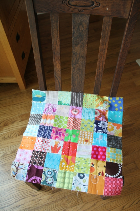 Patchwork on chair
