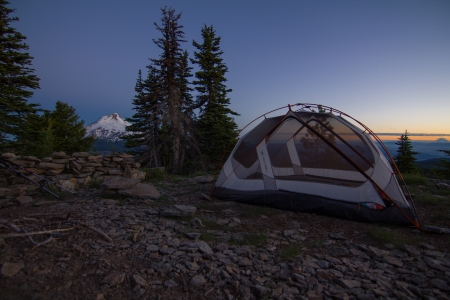 Lookout Mt Tent Morning
