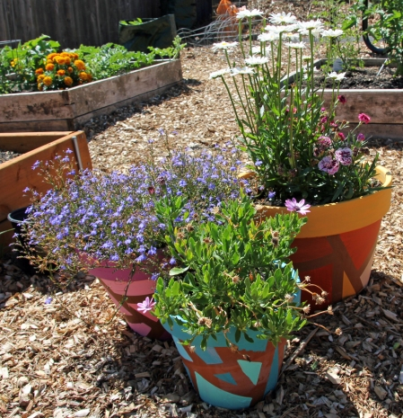Methodist garden pots