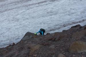 085-Ann Climbing up