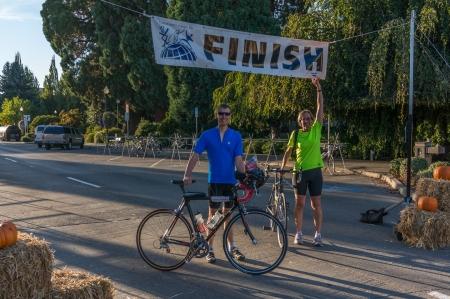 Harvest Century 100 miler finish line
