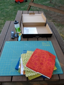 Mystery Quilt cutting