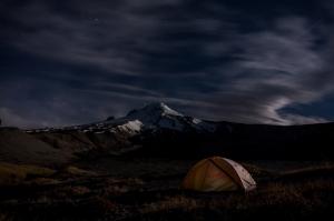 DSC03058-Boy Scout Ridge Moon light on Mt Hood