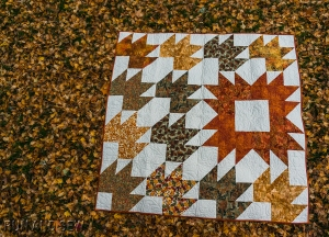 Vicki Fall Quilt leaves