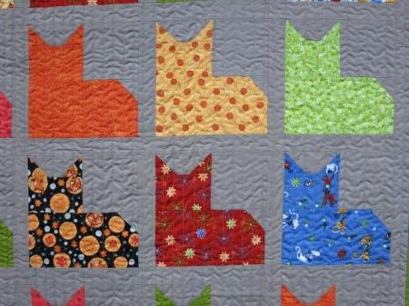 Merilee Cat Quilt close