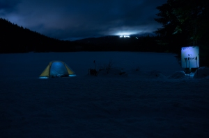 Trillium Lake Night