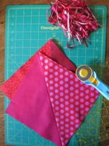 Valentine quilt HST cuts