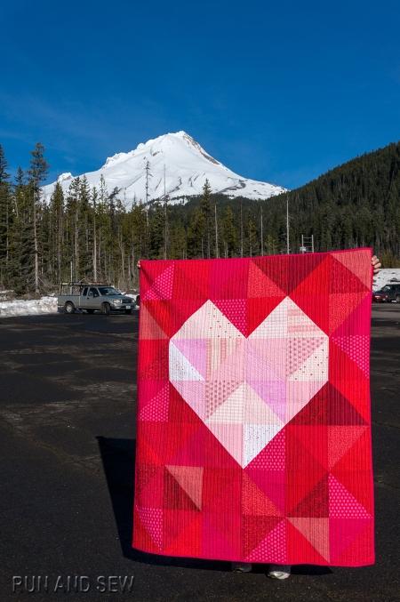 Elizabeth 2015 Heart quilt