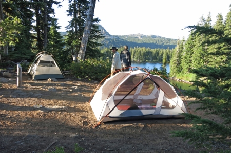 Tents at Scout Lake