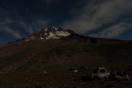 Two Tents at night