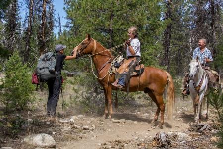 Ann petting horse