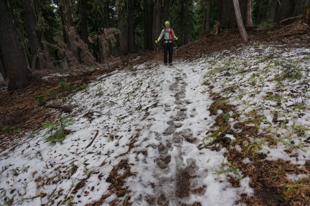 Ann Snow On Trail
