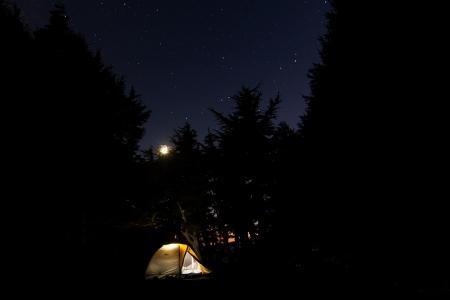 Yocum Ridge Tent Night