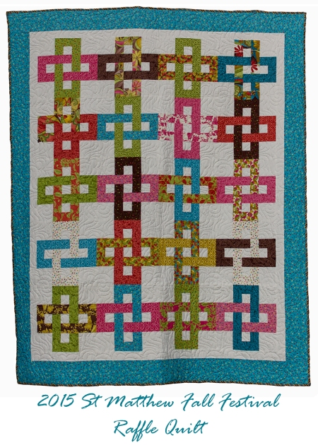 2015 Fall Festival Raffle Quilt 5 by 7