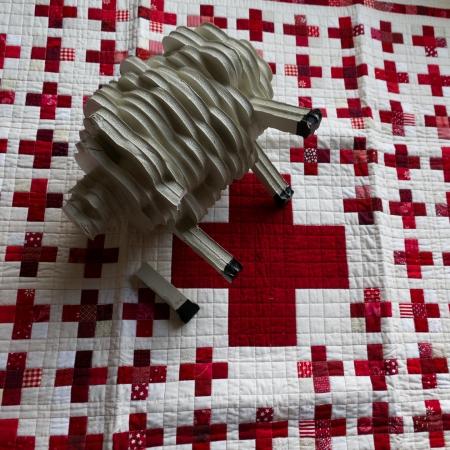 sheep red cross