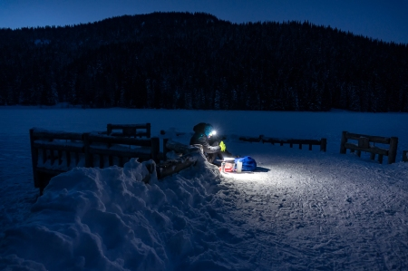 Ann Cooking Dinner Trillium Lake