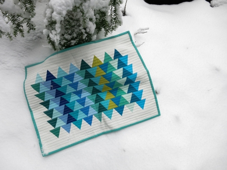 quilt in snow