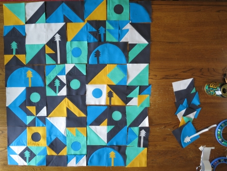 Gear Up Quilt Pieces