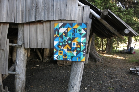 Gear Up quilt at Elk Meadow Shelter