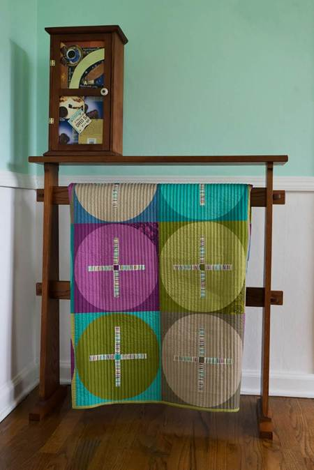 Circles and crosses on rack