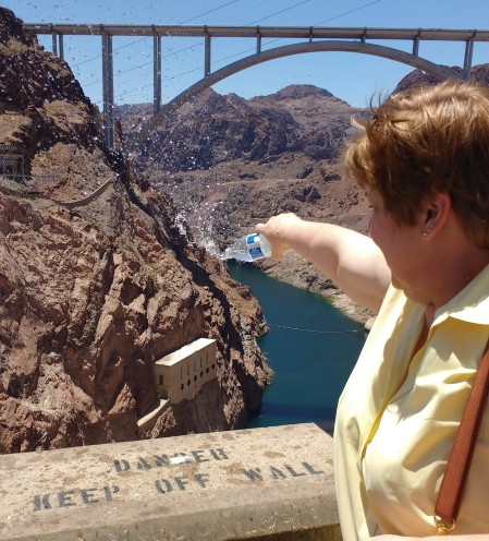 Donna at Hoover Dam