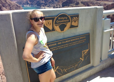 Heather at Hoover Dam